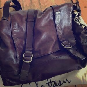 Cole Haan Hyde Park II Messenger leather bag